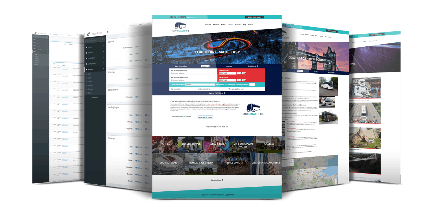 Your Coach Hire - Website Showcase